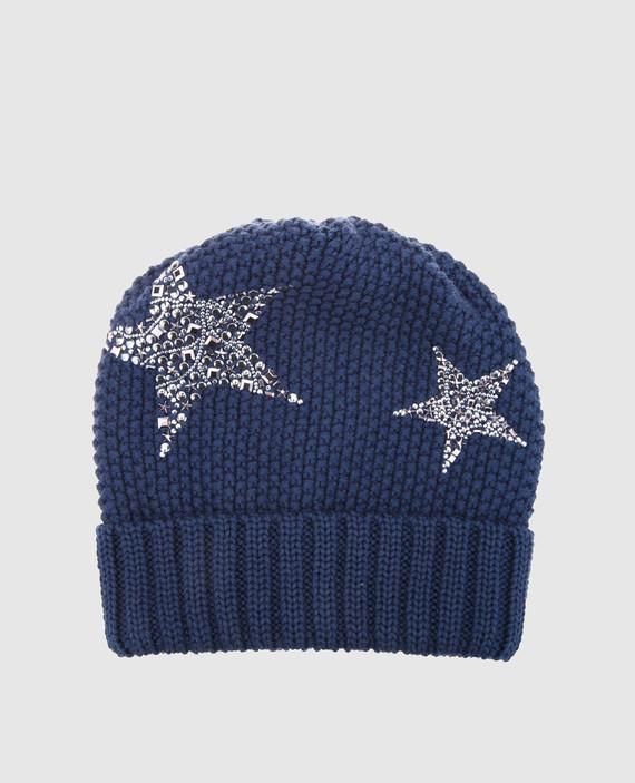 Детская синяя шапка
