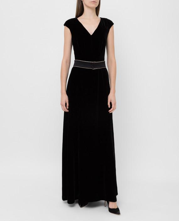 Черное бархатное платье hover