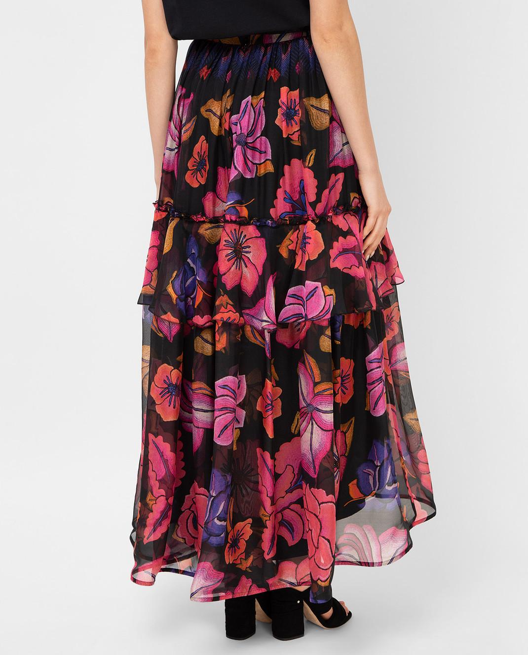 Alberta Ferretti Черная юбка из шелка A0122 изображение 4