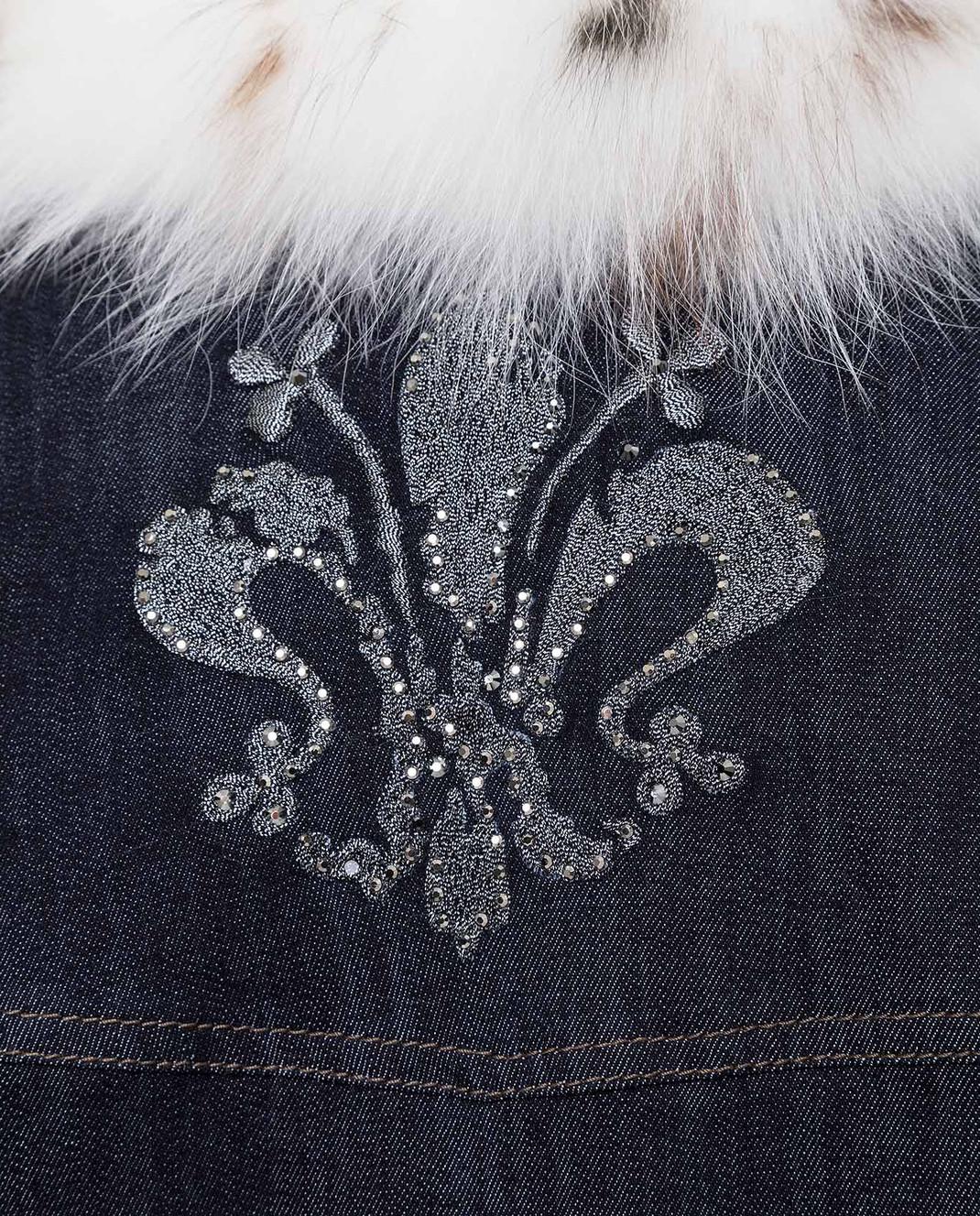 Florence Mode Темно-синяя куртка на меху STELLA изображение 5