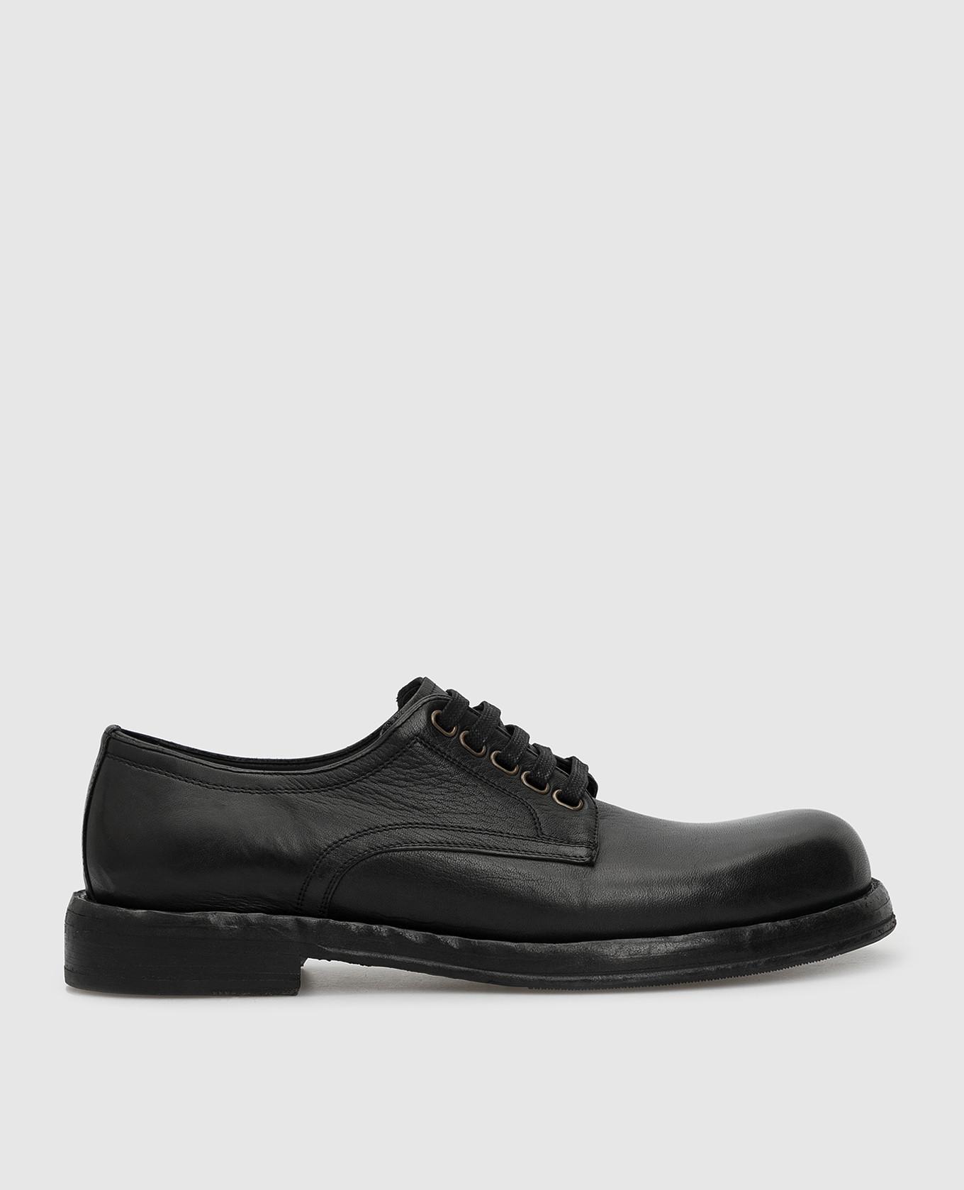 Черные кожаные дерби