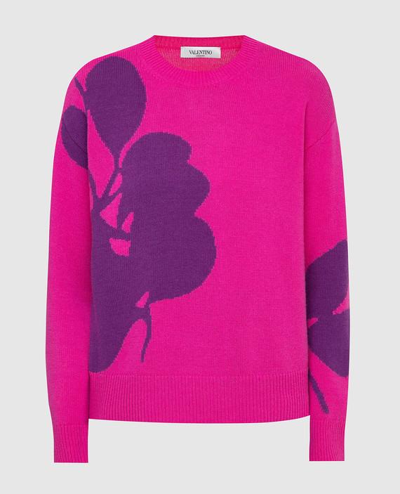 Розовый свитер из шерсти и кашемира