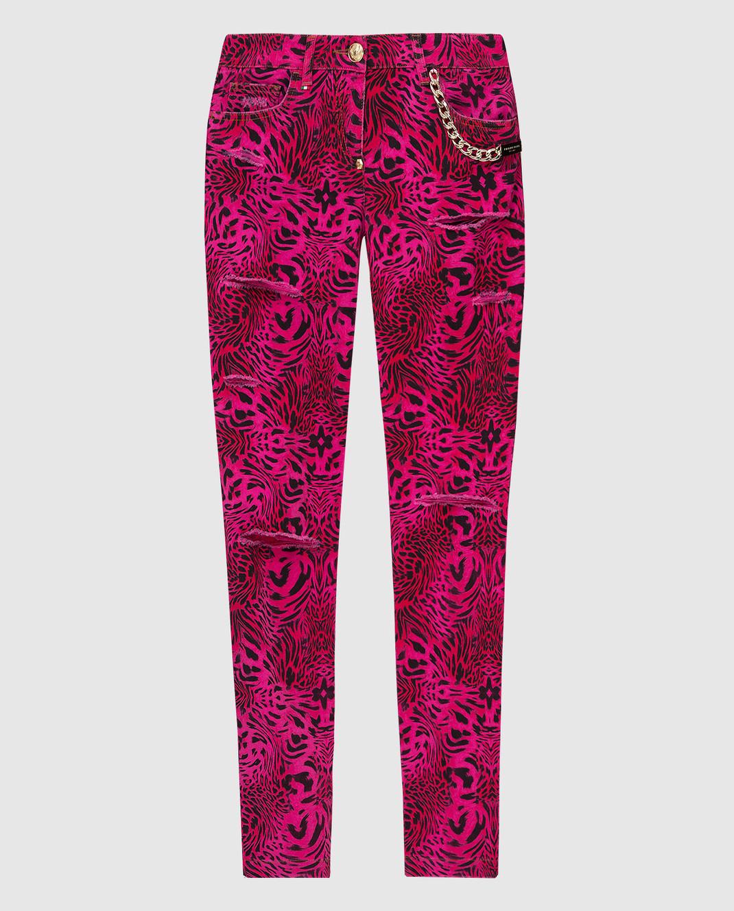 Philipp Plein Розовые джинсы CWDT0208
