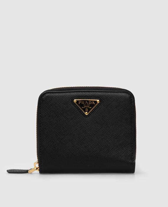 Черный кожаный кошелек