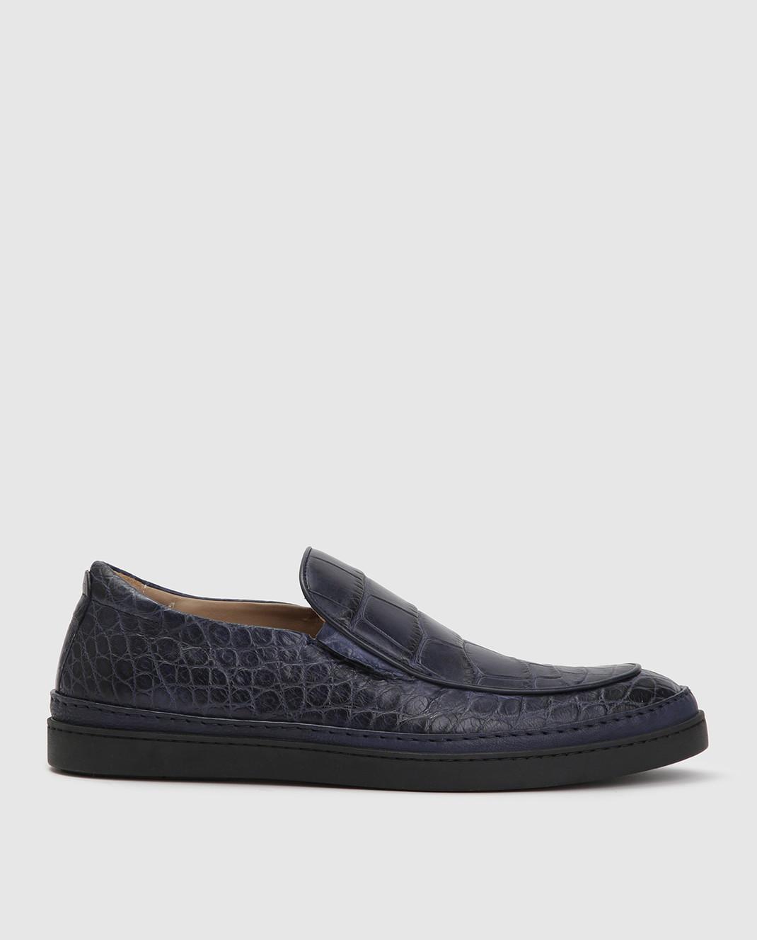 Del Dami Синие туфли из кожи аллигатора изображение 1