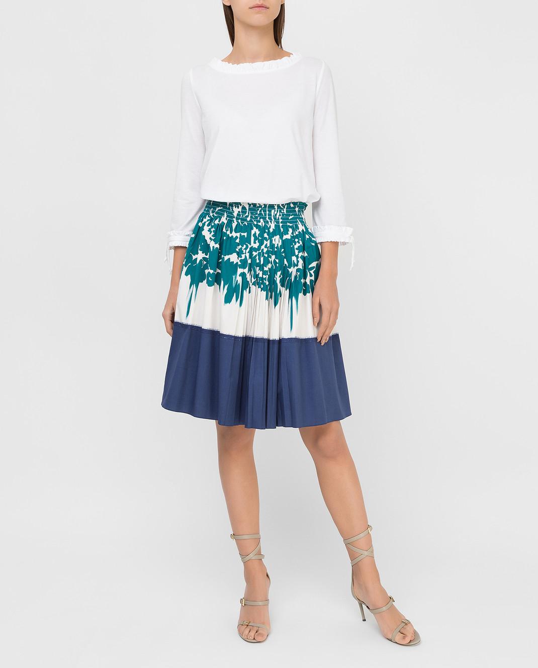 Prada Белая юбка изображение 2