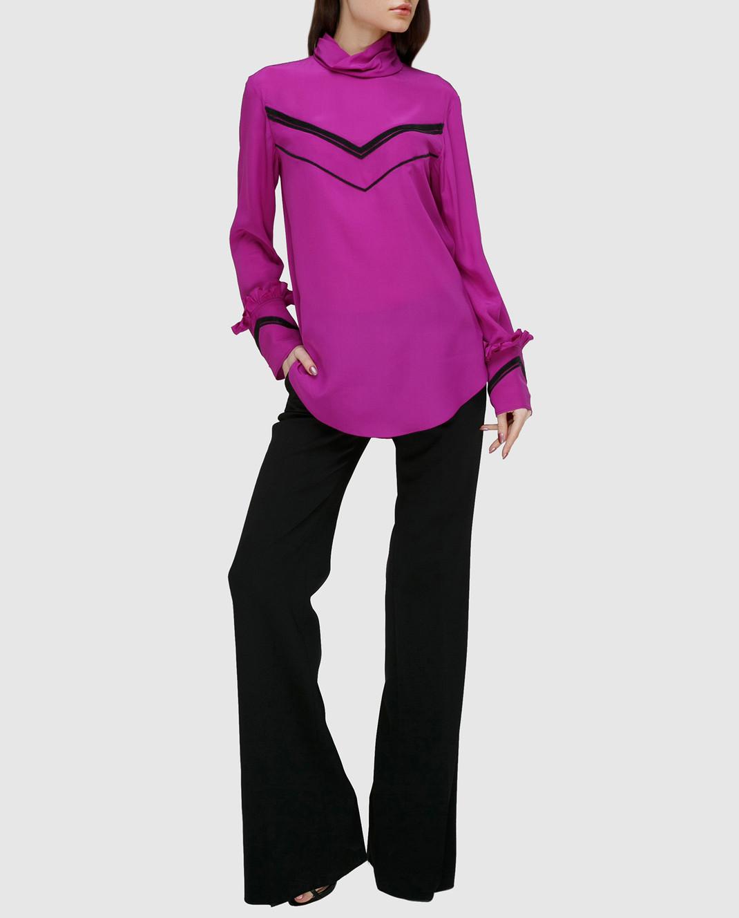 NINA RICCI Розовая блуза из шелка 17PCTO016SE0801 изображение 2