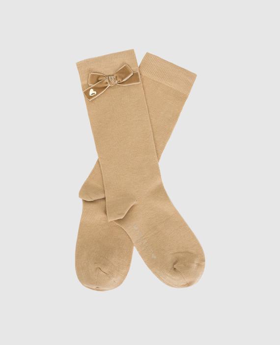 Детские бежевые носки