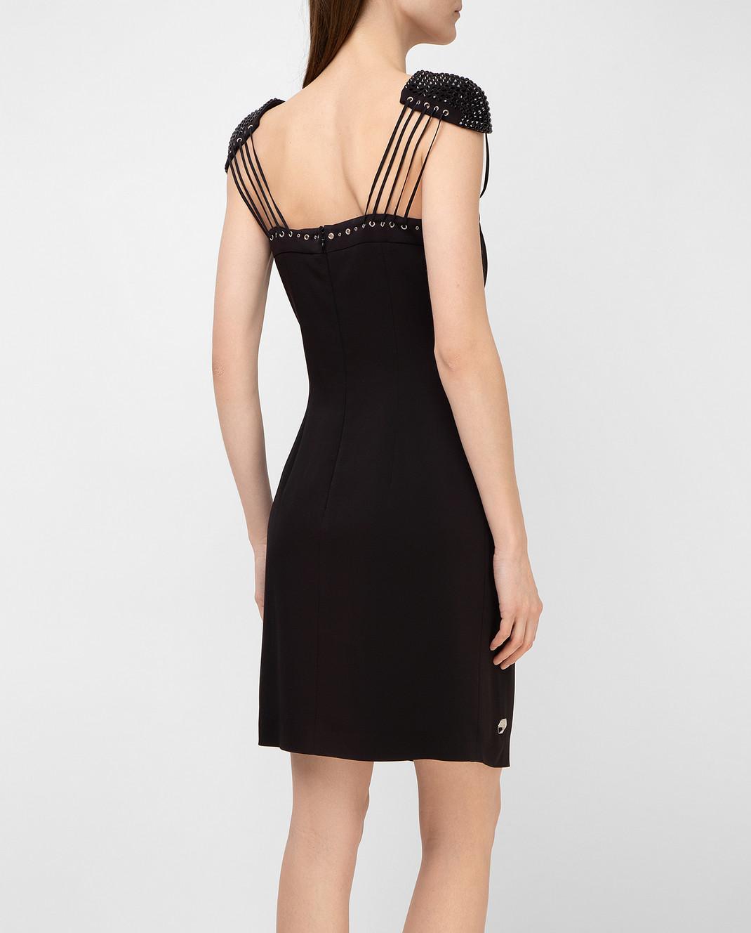 Philipp Plein Черное платье с кристаллами CWRG0060 изображение 4