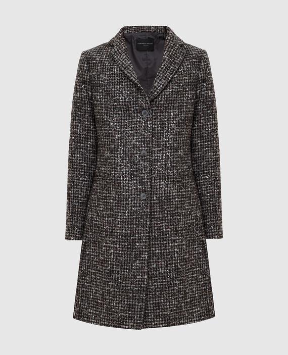 Темно-коричневое пальто