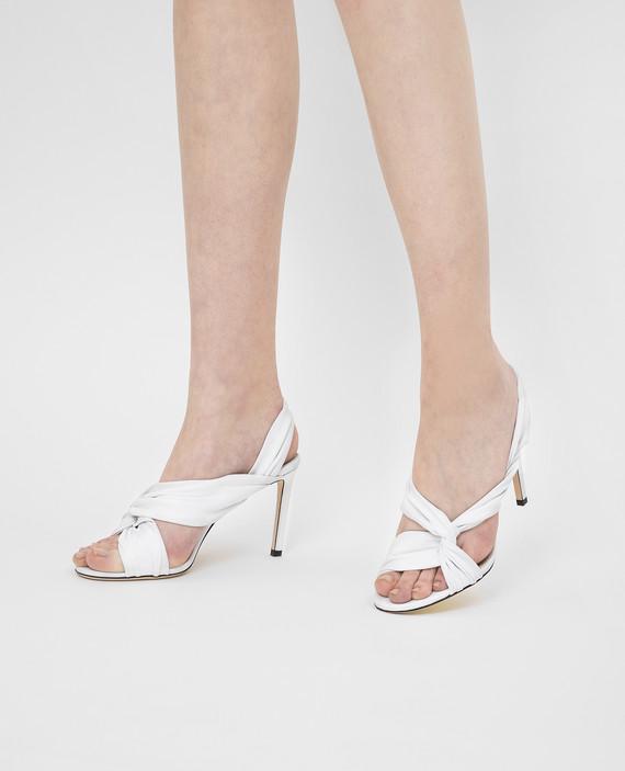"""Белые кожаные босоножки """"Lalia"""" hover"""