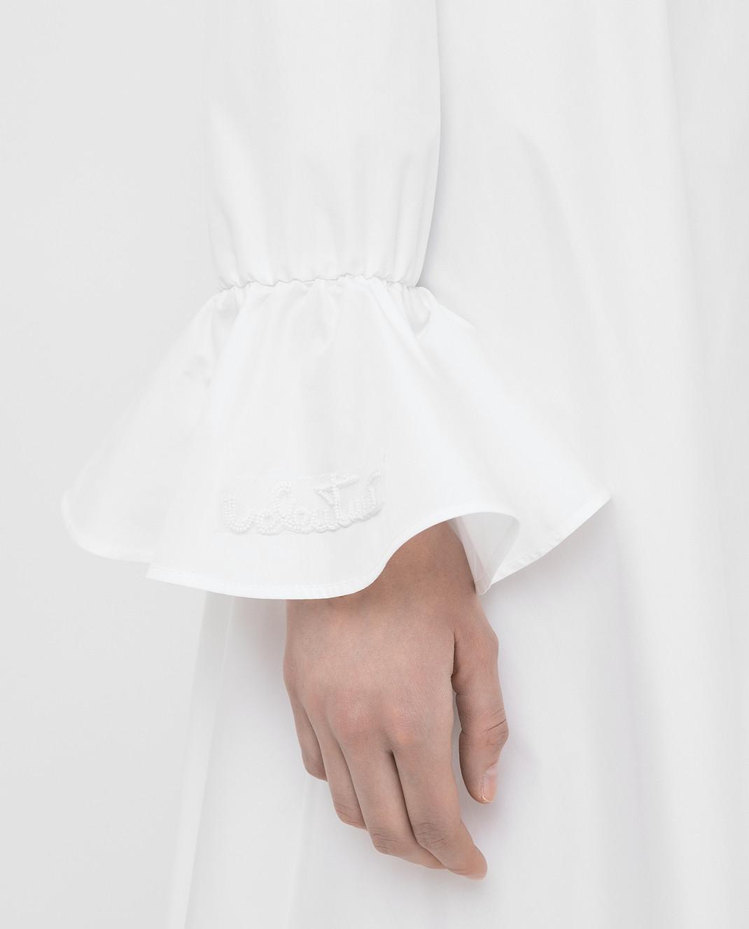 Valentino Белое платье TB3VAR204HP изображение 5