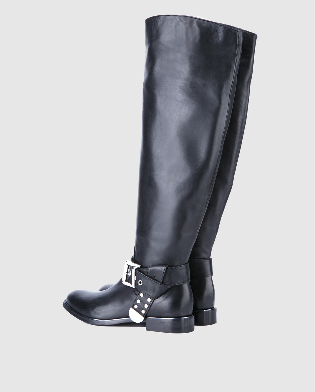 Fru it Черные кожаные сапоги изображение 3