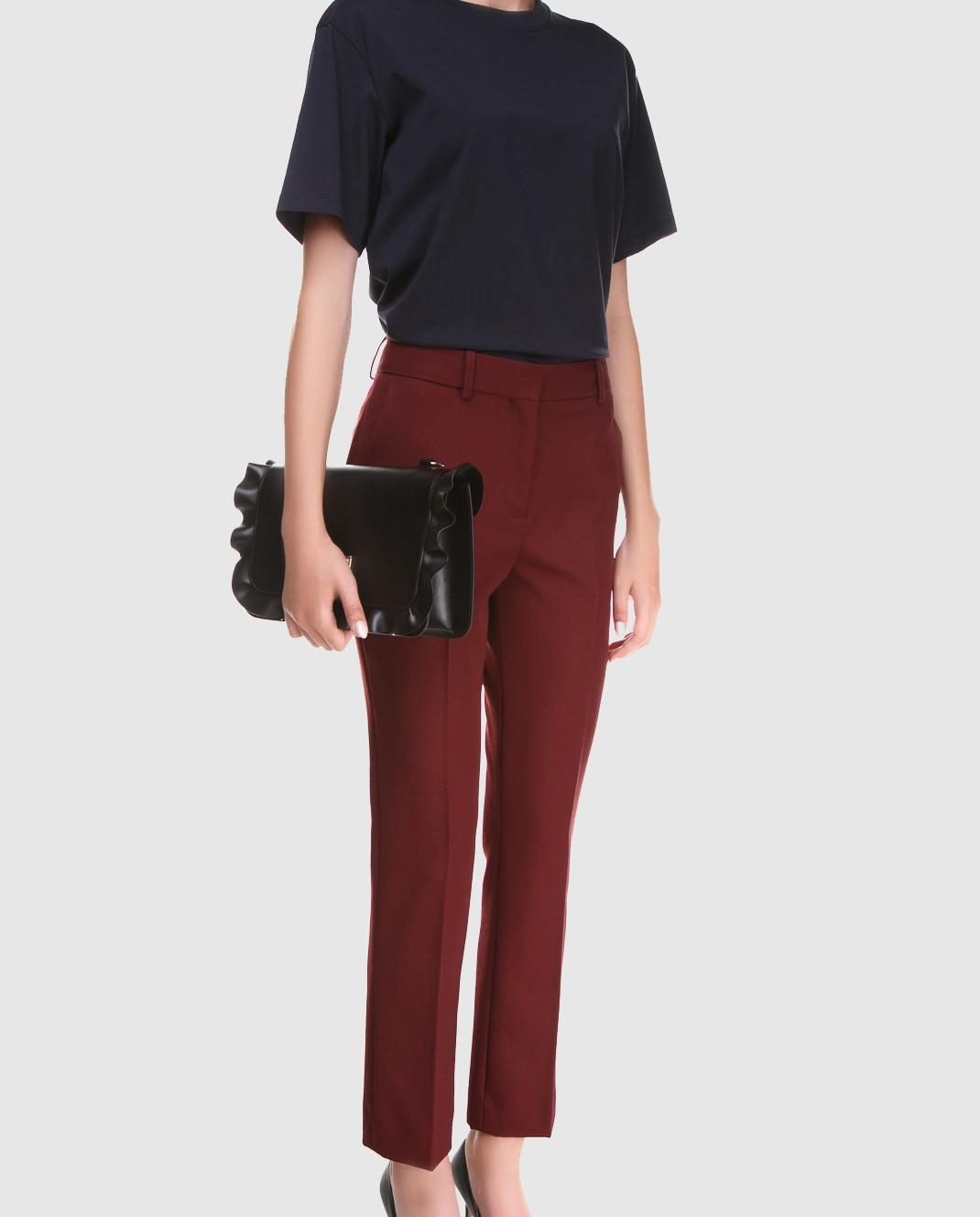 Victoria by Victoria Beckham Бордовые брюки из шерсти TRVV085B изображение 2