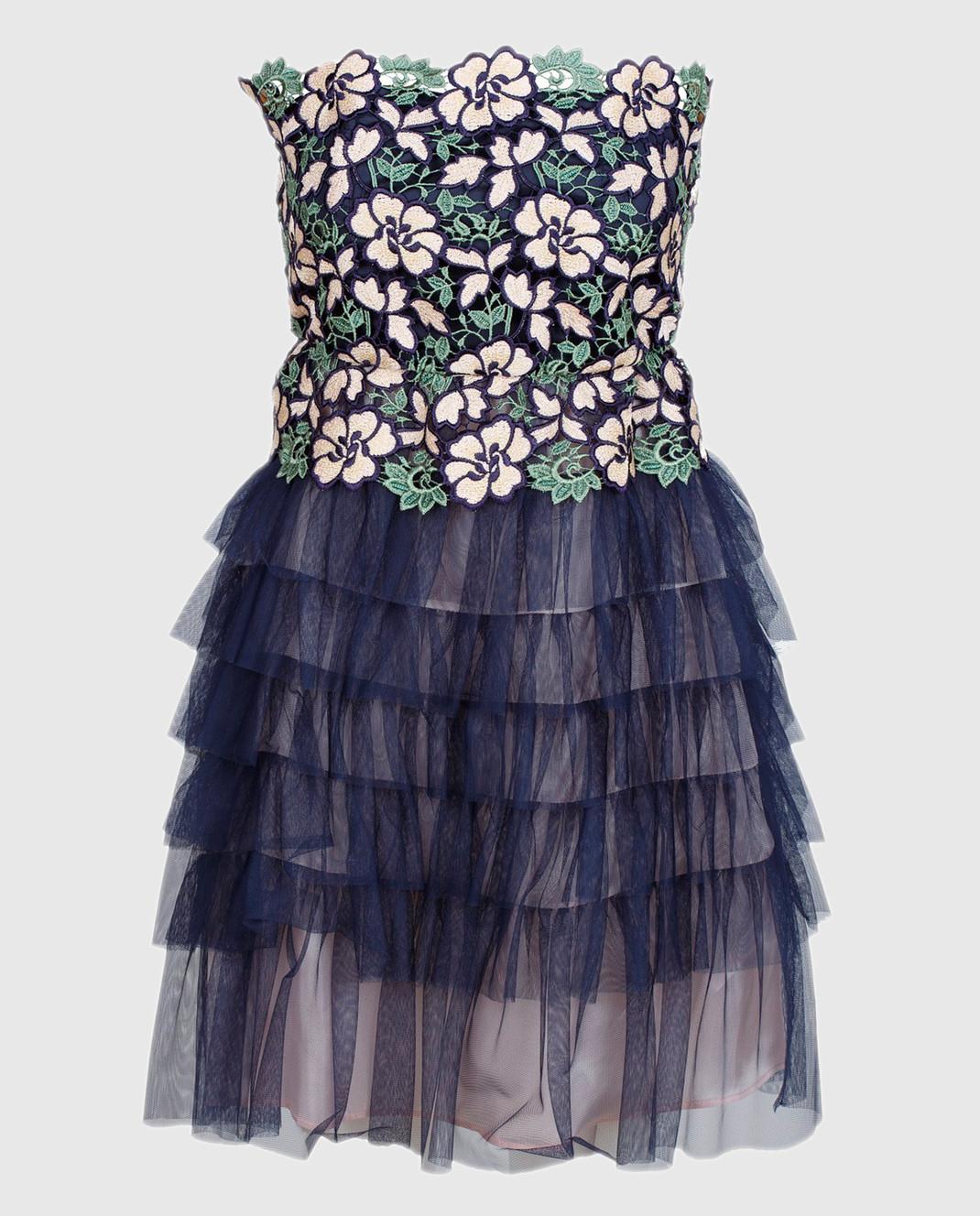 Tresophie Синее платье с кружевом J2213317