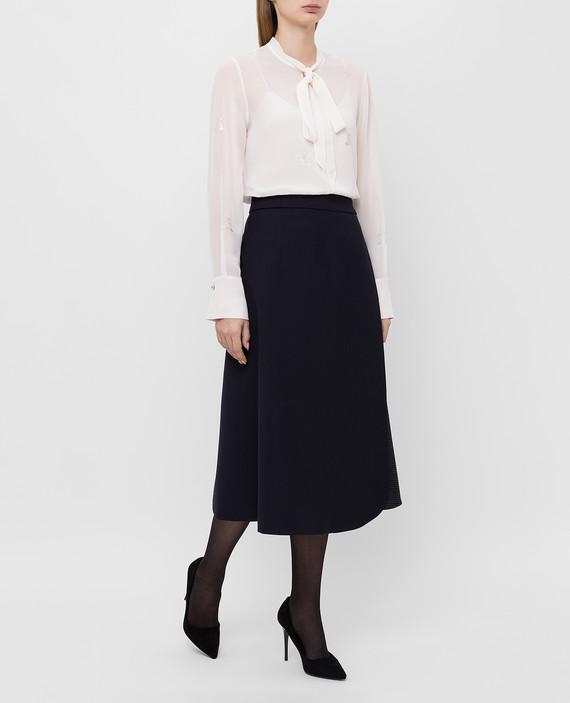 Светло-бежевая блуза из шелка hover