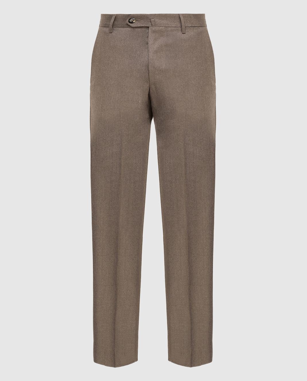 Castello d'Oro Бежевые брюки из шерсти изображение 1