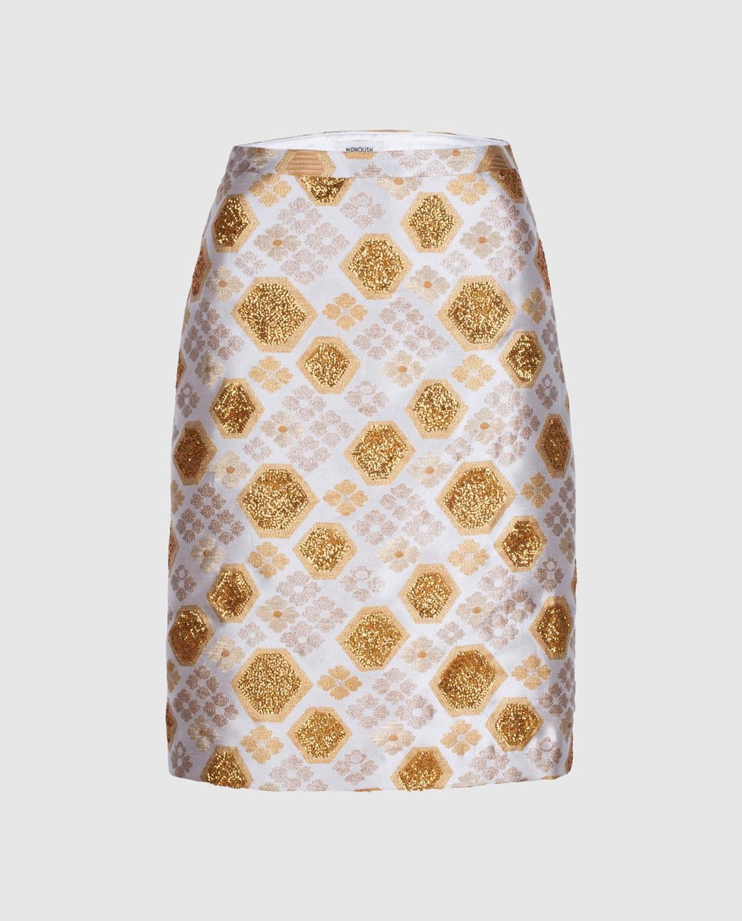 Manoush Светло-бежевая юбка PE7BROJ