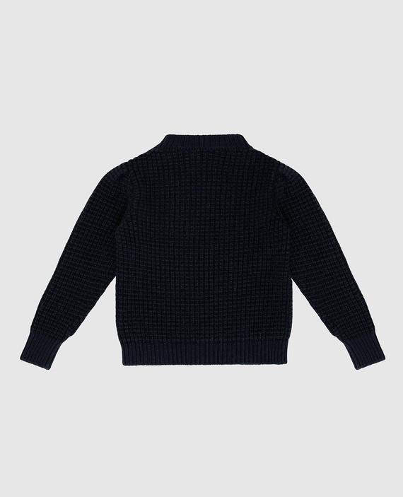 Детский темно-синий свитер hover
