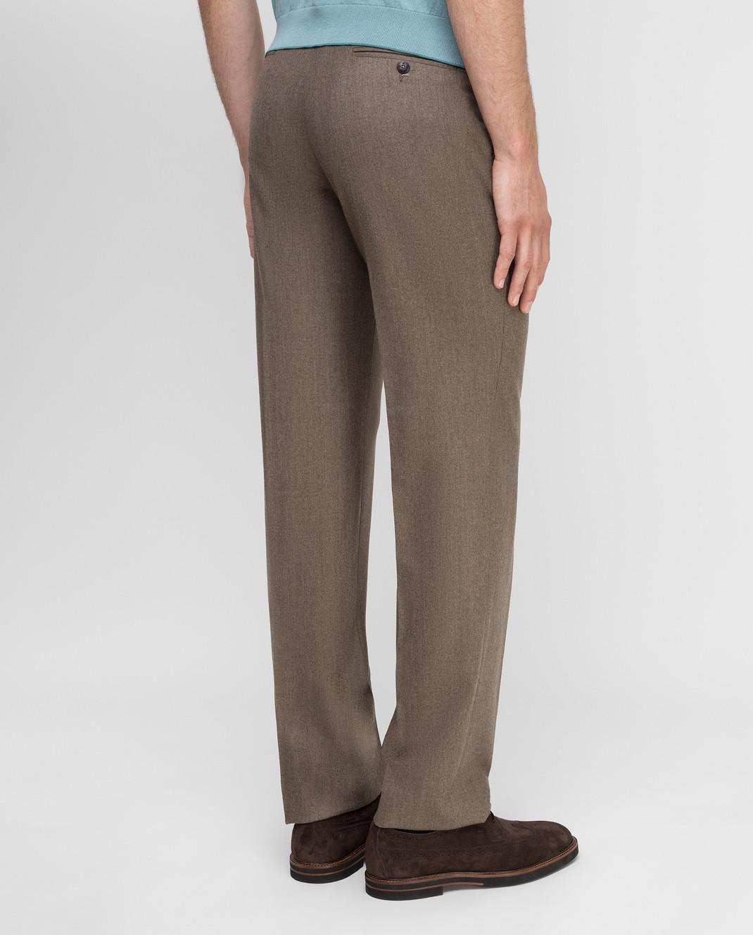 Castello d'Oro Бежевые брюки из шерсти изображение 4