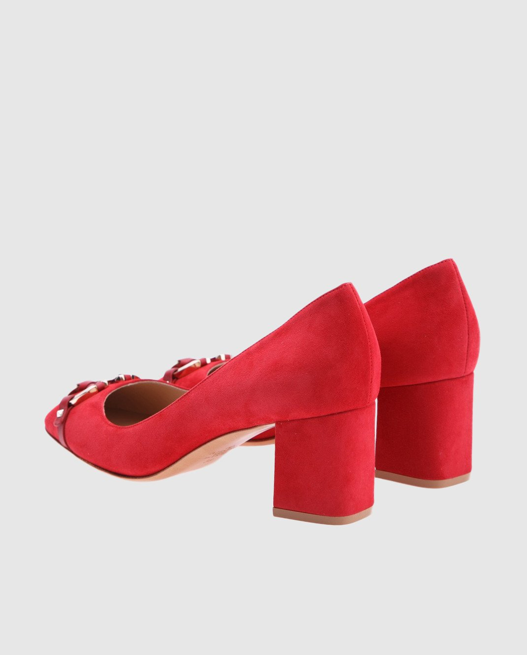 Valentino Красные туфли из замши изображение 3