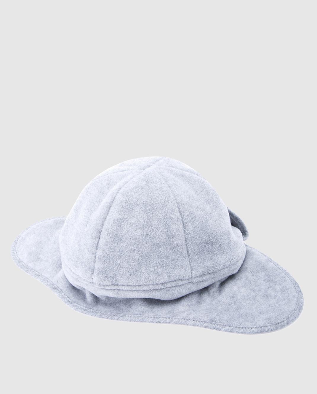 Moncler ENFANT Детская серая шапка 00623 изображение 2