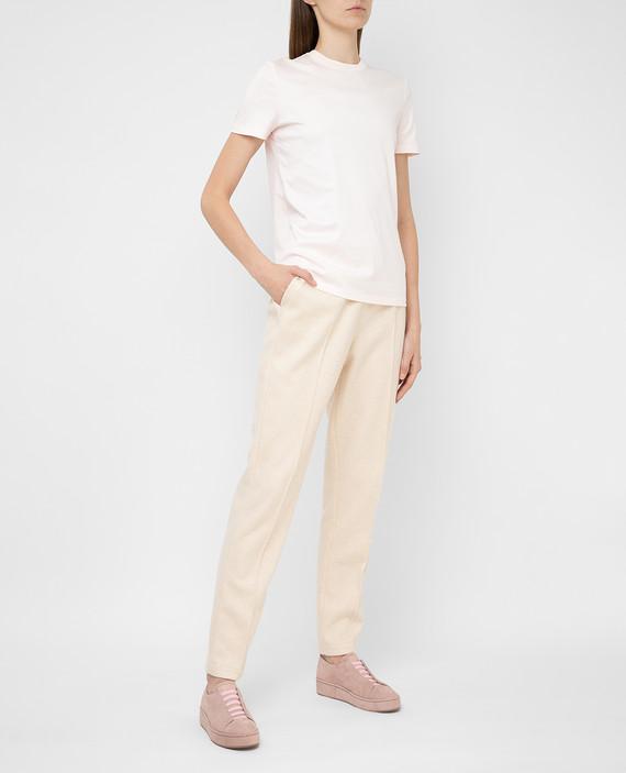 Светло-бежевые брюки из кашемира hover