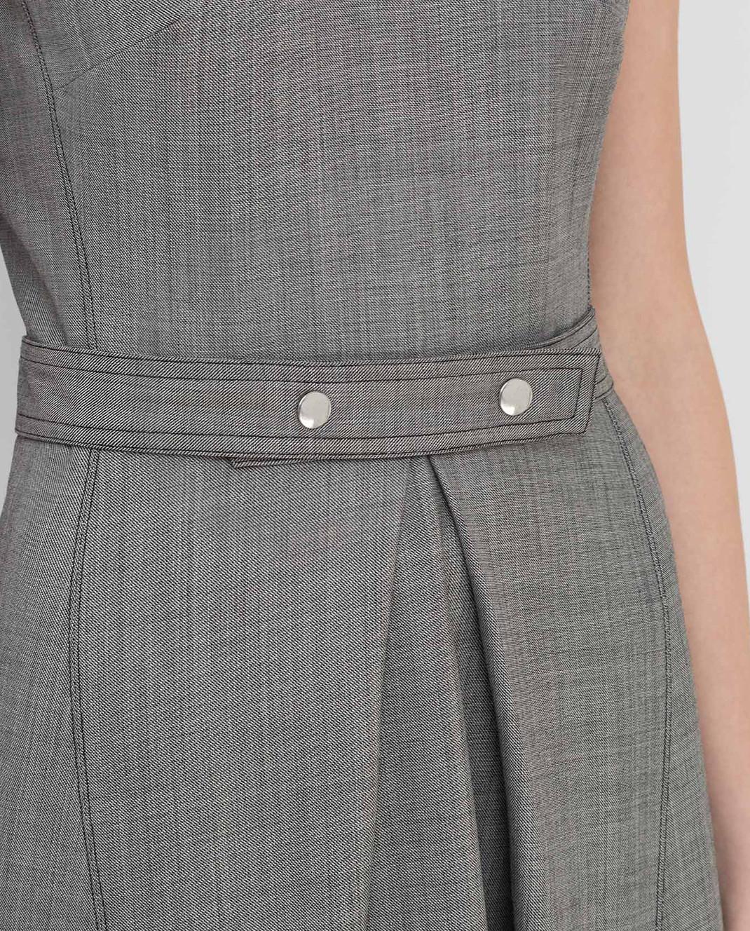 Victoria Beckham Серое платье из шерсти DRMID6602 изображение 5