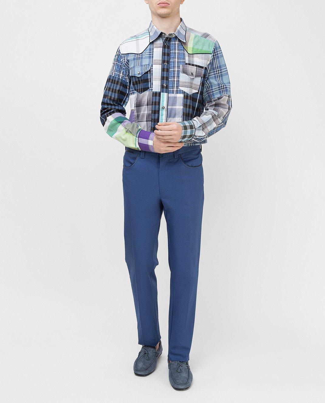 Dolce&Gabbana Синяя рубашка G5CS8TG9Y16 изображение 2
