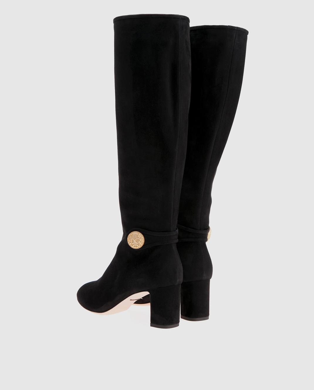 Dolce&Gabbana Черные замшевые сапоги CU0397A1275 изображение 3
