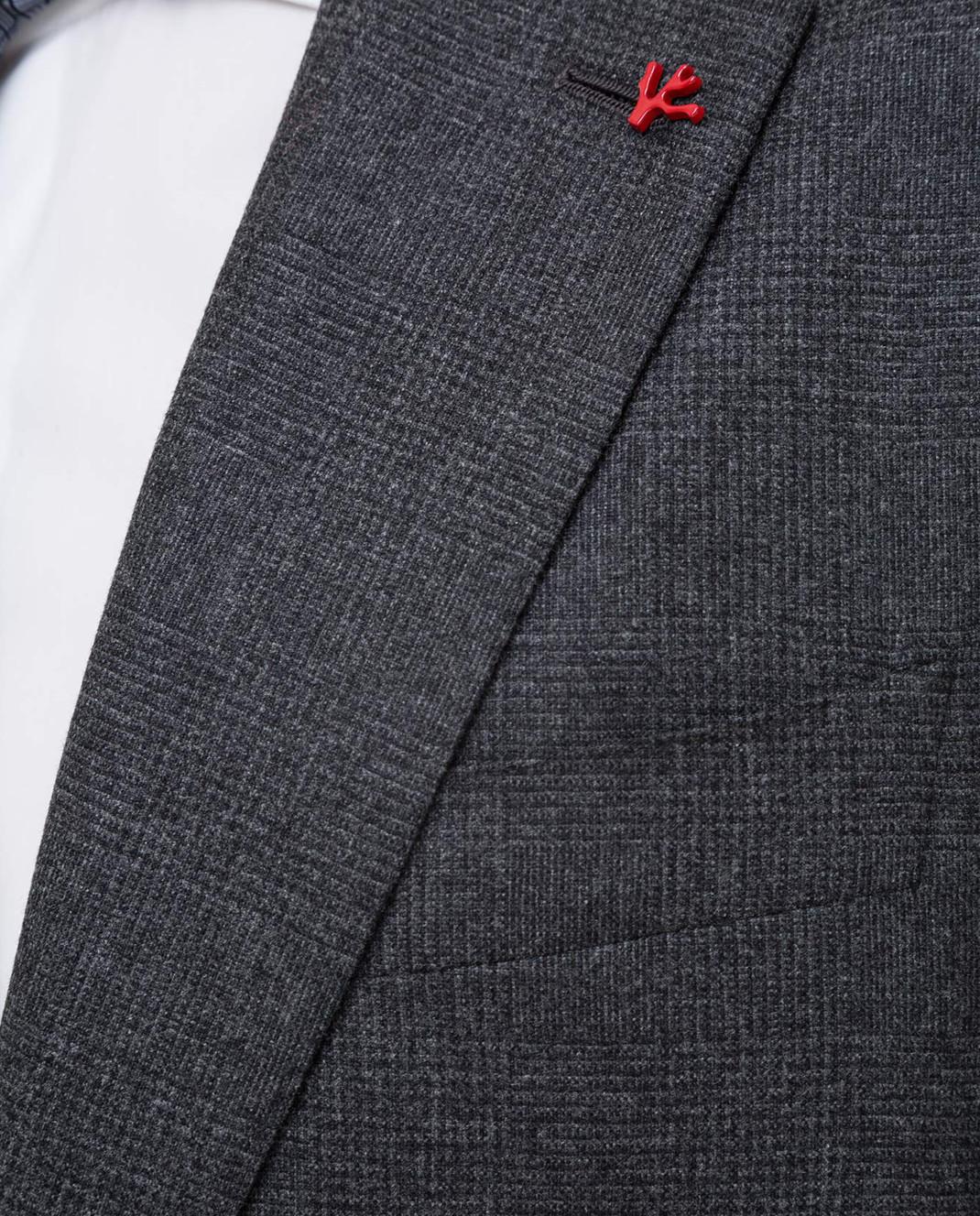 ISAIA Серый костюм из шерсти и кашемира 224ASI89681 изображение 5