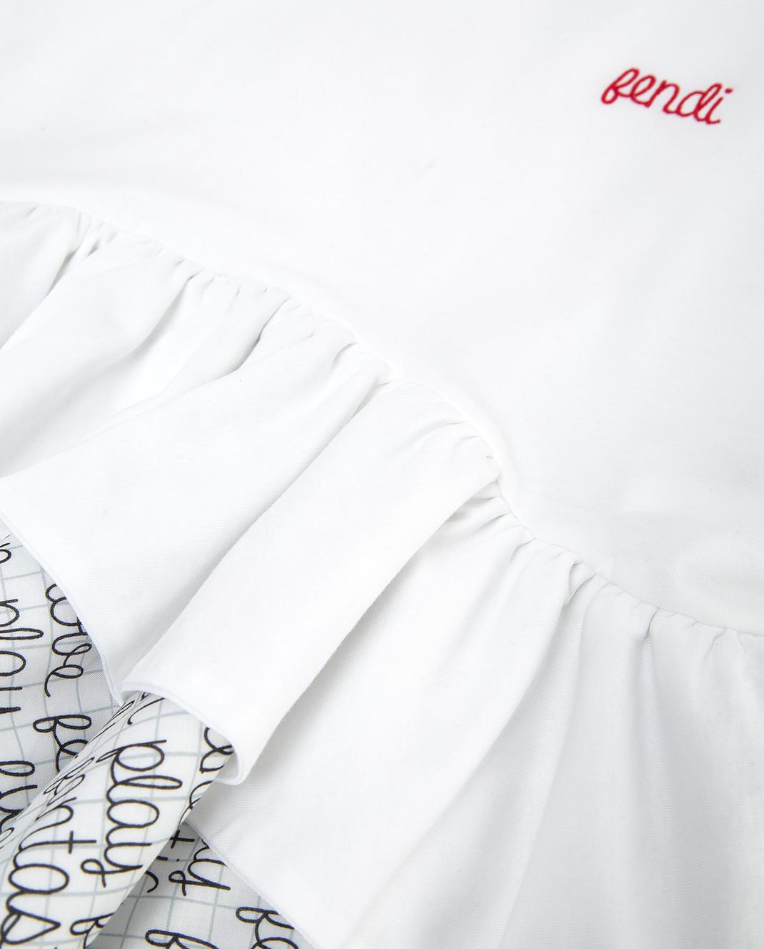 Fendi Детский белый лонгслив JFI11569 изображение 3