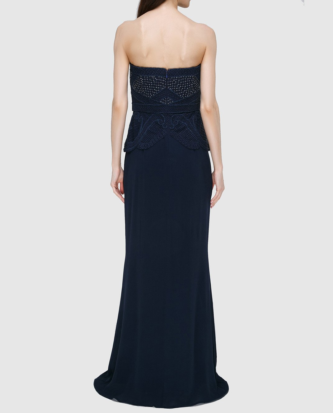 Rachel Gilbert Темно-синее платье из шелка 60014 изображение 4