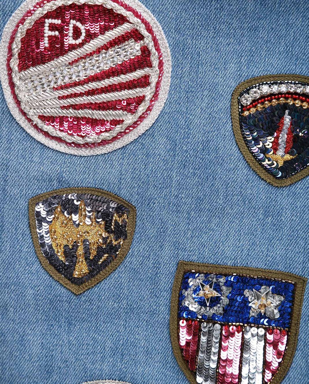 Mr&Mrs Italy Голубые джинсы JE084E изображение 5
