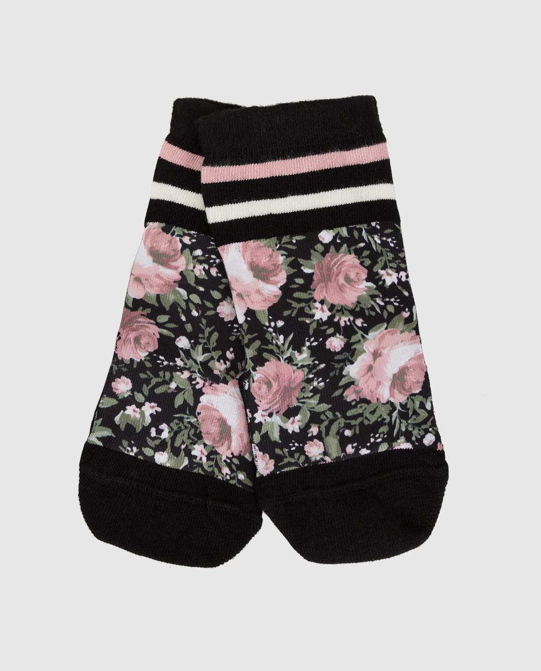 Twin Set Детские черные носки GA8ABN