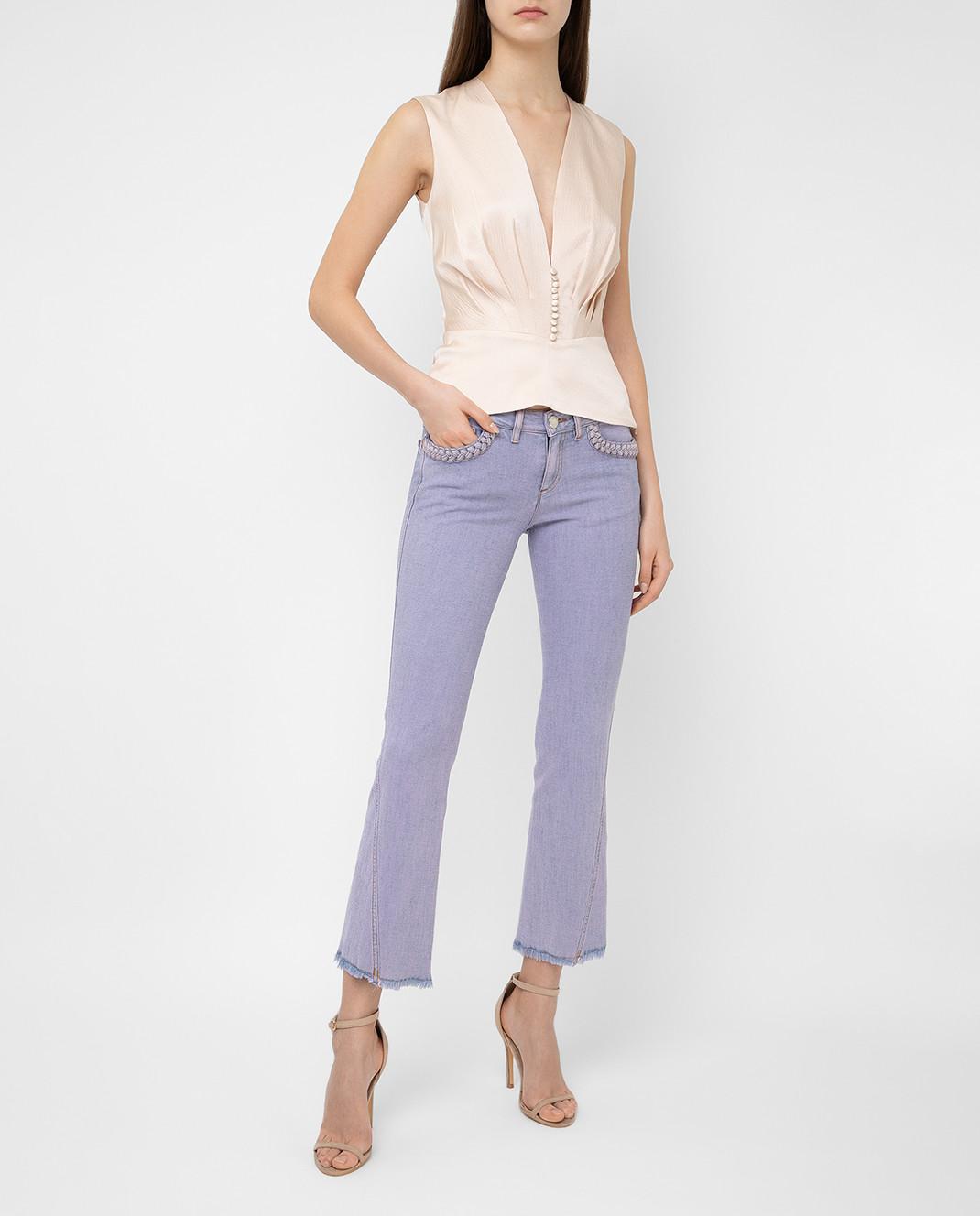 See by Chloe Сиреневые джинсы S7EDP12 изображение 2
