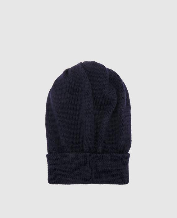 Детская темно-синяя шапка hover