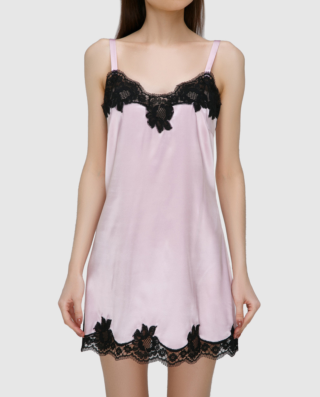 Dolce&Gabbana Розовая комбинация из шелка O6A00TFUADG изображение 3