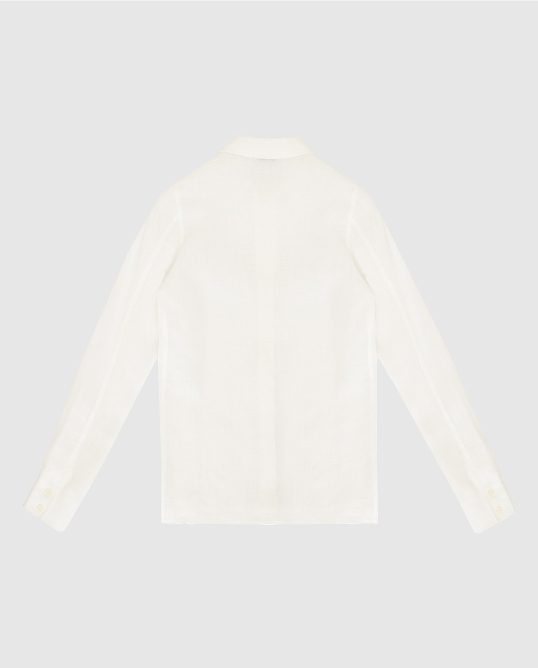 Loro Piana Детская белая рубашка из льна F1FAG1926 изображение 2