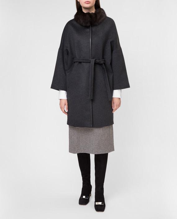 Темно-серое пальто hover