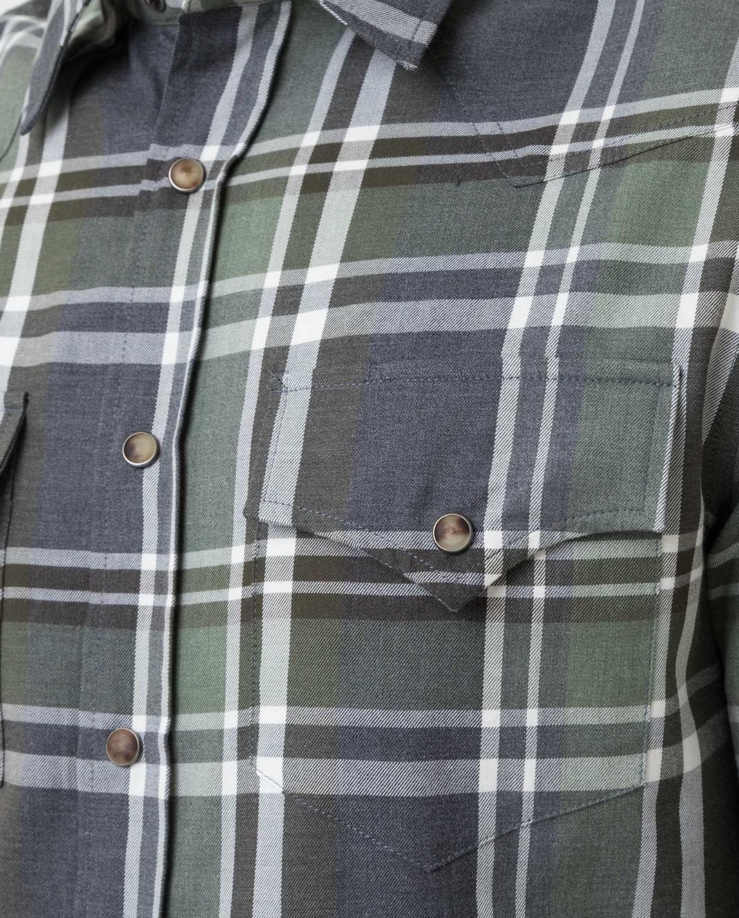 Brunello Cucinelli Зеленая рубашка изображение 5