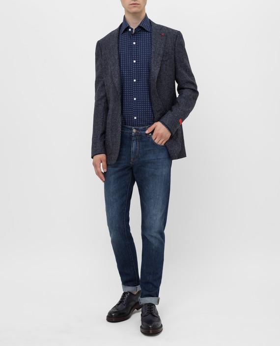 Темно-синяя рубашка hover