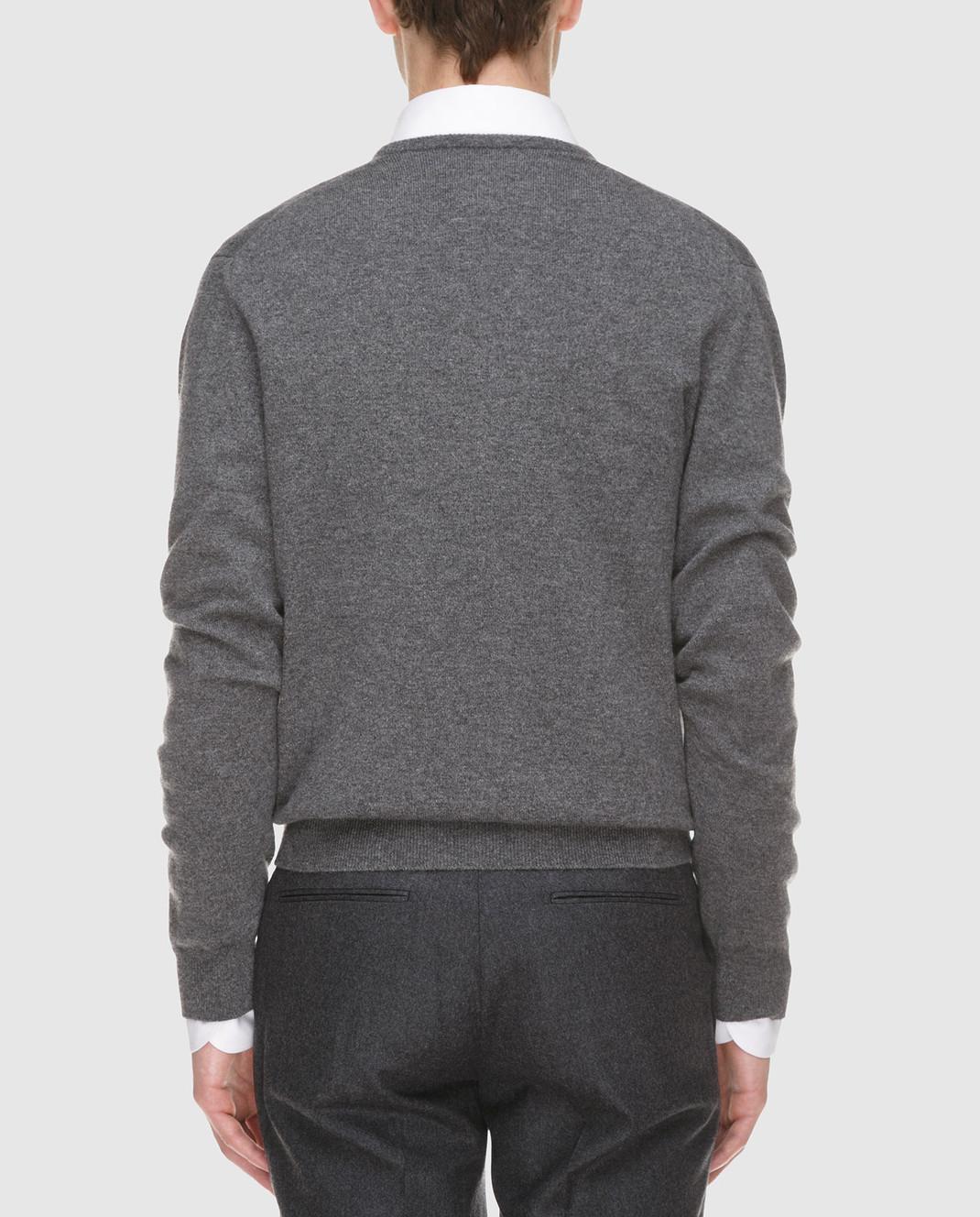 Johnstons Серый пуловер из кашемира KAL03406 изображение 4