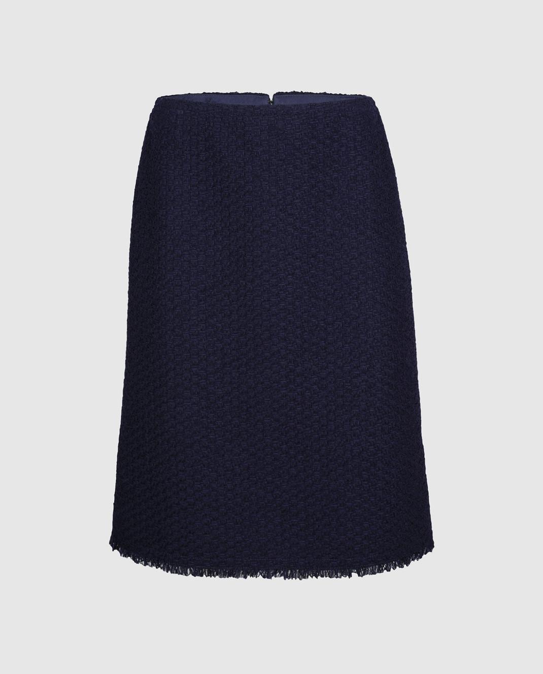 NINA RICCI Темно-синяя юбка 17PCJU023PA0341