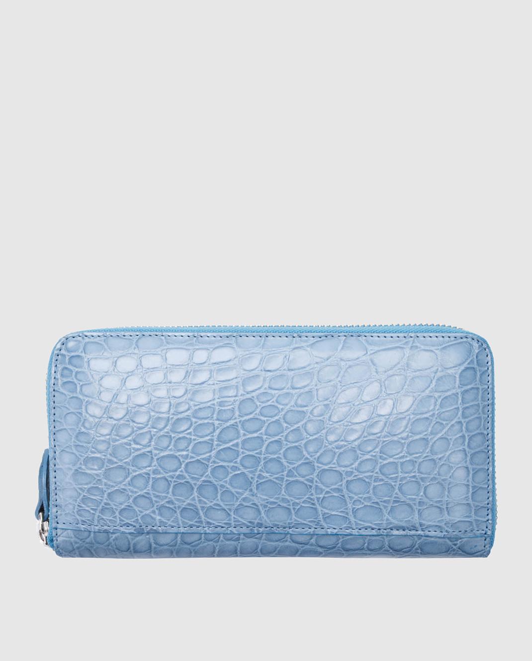 Bochicchio Голубой кожаный кошелек изображение 2