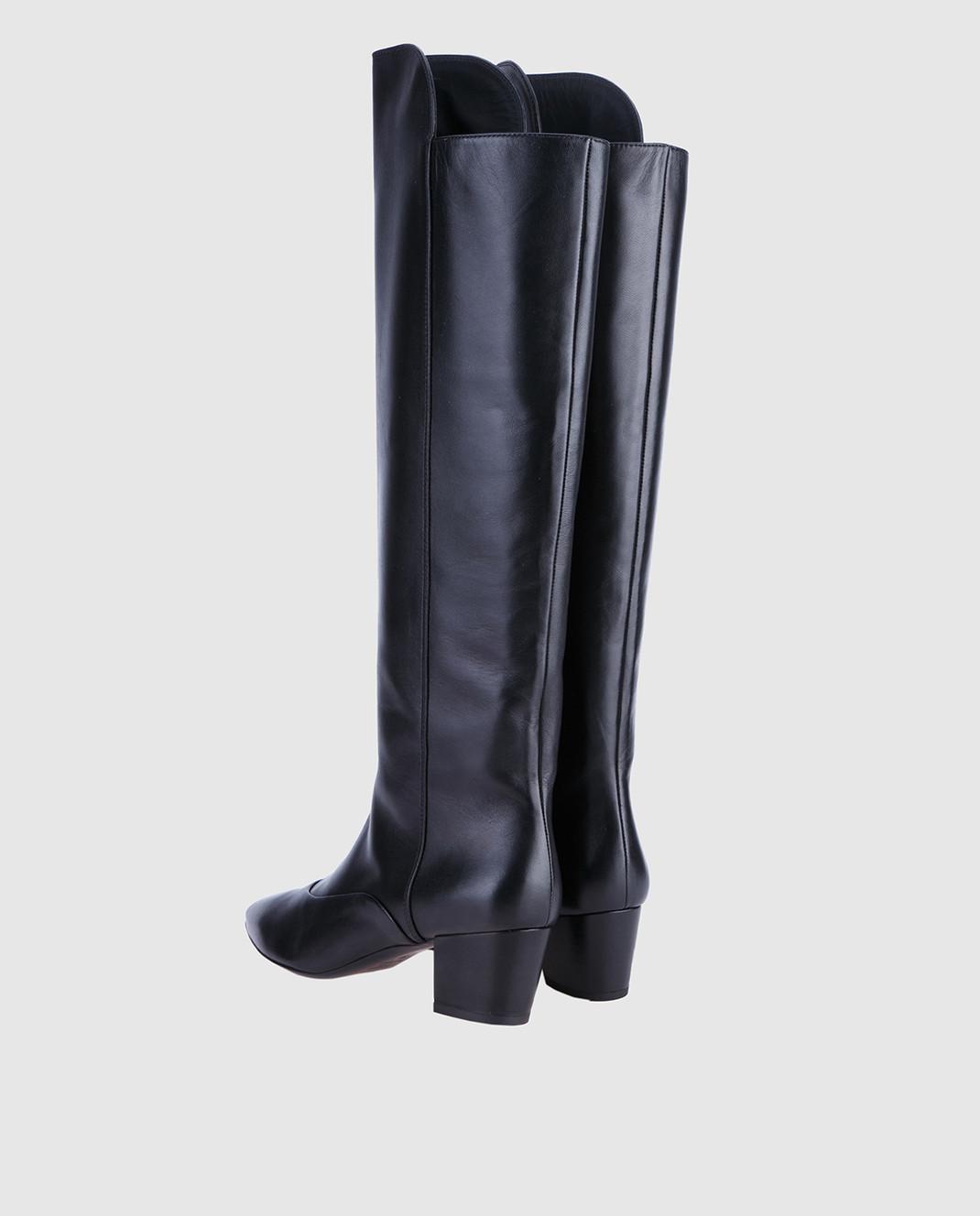 Laurence Dacade Черные кожаные сапоги SANDRINE изображение 3