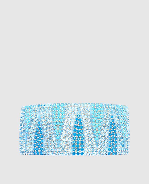 Голубая заколка с кристаллами Swarovski
