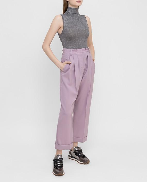 Сиреневые брюки из шерсти hover