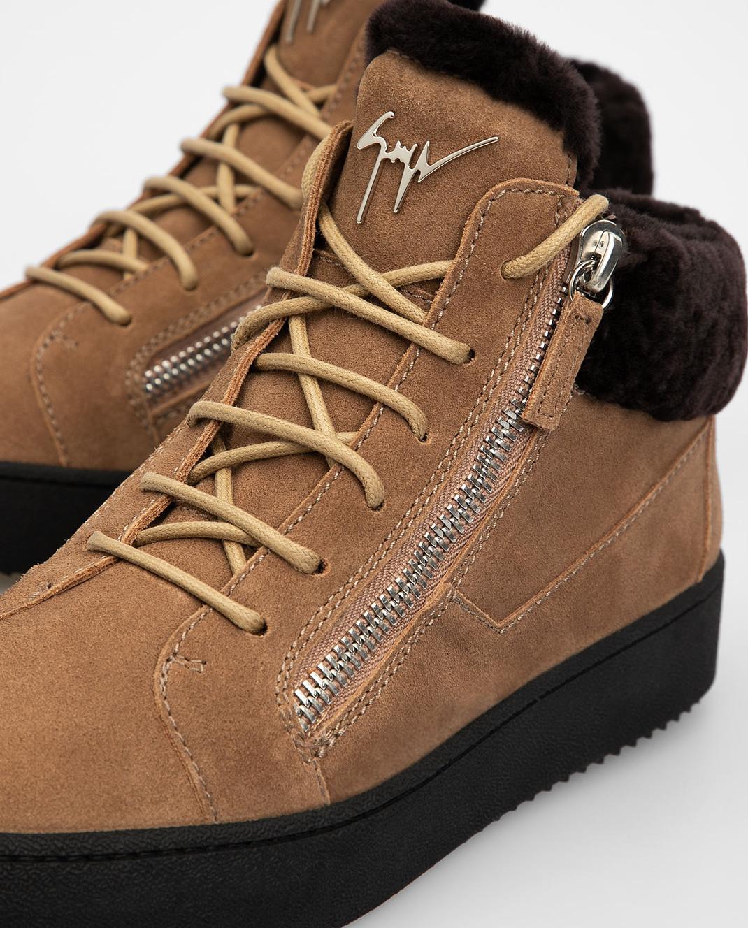 Giuseppe Zanotti Бежевые замшевые ботинки изображение 5