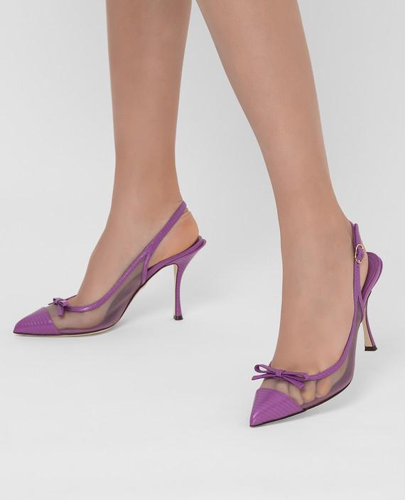 Фиолетовые кожаные слингбэки hover